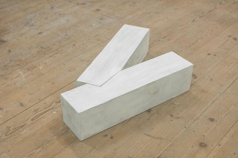 Untitled, Kambala wood, white paint, unique, 2008