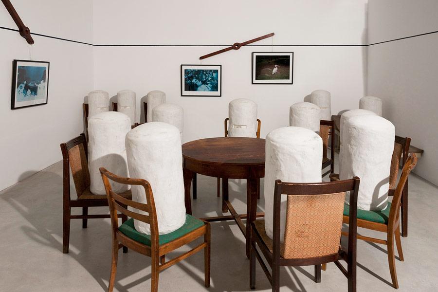 Visions of Hans Castorp, exhibition view at Galerija Gregor Podnar, Berlin, 2010. Photo: Marcus Schneider