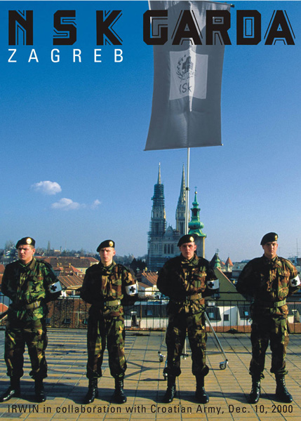 NSK Garda / Zagreb (in collaboration with Croatian Army), Museum of Contemporary Art, Zagreb, iris print, 140 x 100 cm, 10. 12.2000. Photo: Igor Andjelič