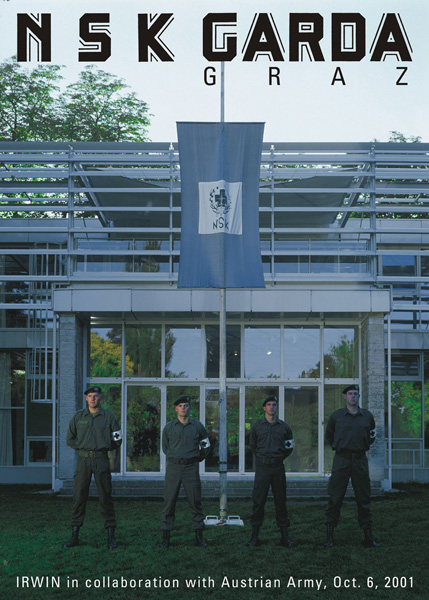 NSK Garda / Graz (in collaboration with Austrian Army), Forum Stadtpark, iris print, 140 x 100 cm, 6. 10. 2001. Photo: Wolfgang Croce