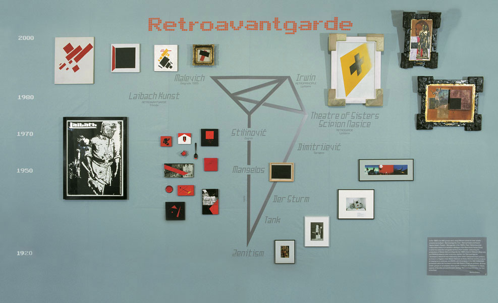Retroavantgarda, mixed media, 300 x 600 cm, 2000