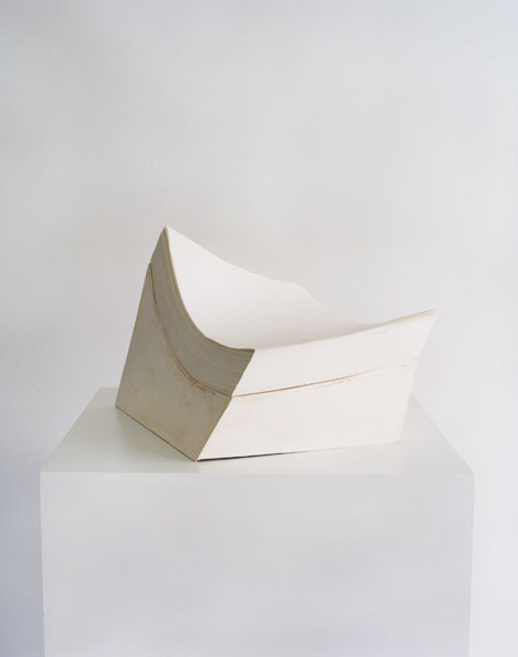 Untitled (Paper Stand), papers, cardboard, 16 x 26 x 18 cm, 2003