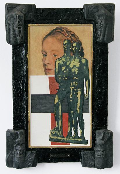 Malevich Between Two Wars (Dušan Mandič), mixed media, 77 x 51 cm, 1984-2001