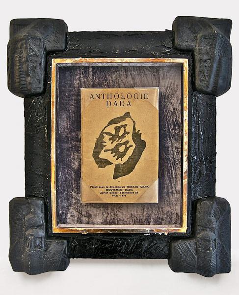 Dada 4-5 magazine (1918), paper, silver leaves, cloth, tar, plaster, 40 x 31 cm, 2010