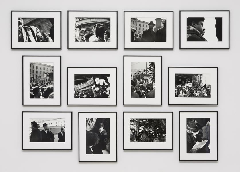 Meeting Electoral, silver prints printed in 2012, series of 12, 36 x 26 or 26 x 36 cm each, 1975