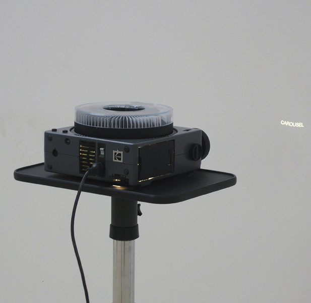 Universe, slide-projector Kodak Carousel, stand, 81 slides, variable dimensions, 2008