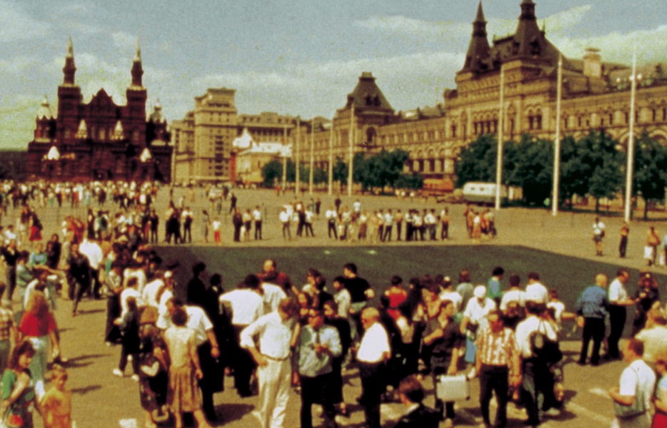 Black Square on Red Square (Moscow), colour photograph, 120 x 112 cm (framed), 1992-1997. Photo: Kineton Pictures