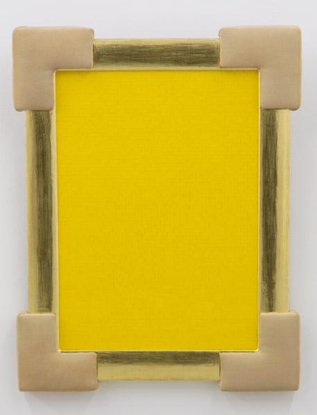 Yellow Monochrome (Miran Mohar), Lego bricks, wood, fabric, 91 x 71 x 6 cm, 2007