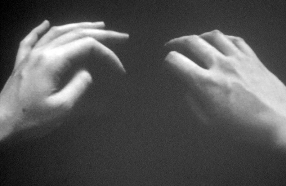 Untitled (Mizianie), B&W video, duration: 2 min, looped, 2010
