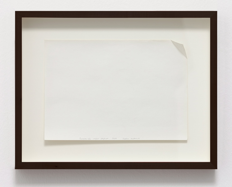 Dog Eared piece of paper, folded paper, 33 x 41 cm (framed), 1977