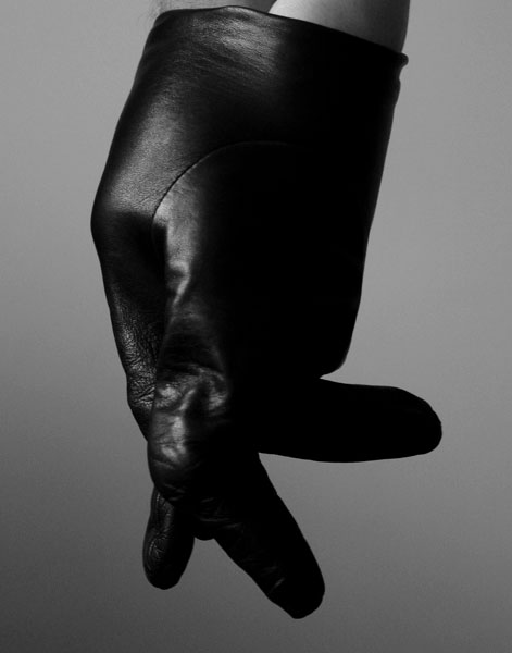 Untitled (Glove), B&W print, 32 x 27.7 cm (framed), 2009