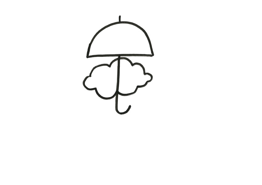 Umbrelled cloud, drawing, 2012