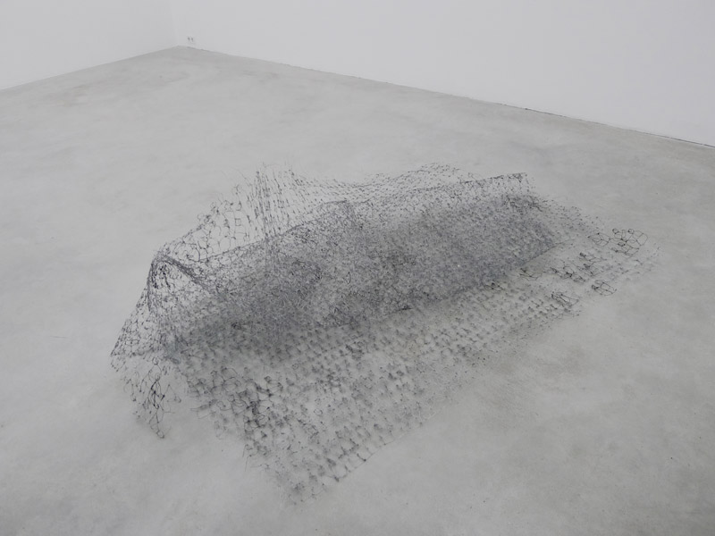 Wire Drawing, wire, ca. 190 x 270 cm (flat surface), 2011
