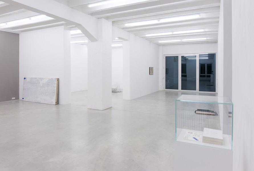 Dan Perjovschi: Board, Wire, and Mail Drawing, exhibition view, Galerija Gregor Podnar, Berlin, 2011. Photo: Marcus Schneider
