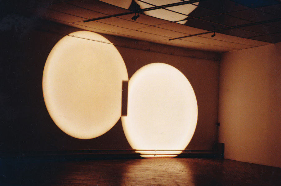 Aluxia, light installation, 2003. Exhibition view at Croatian Association of Artists, Zagreb, 2003