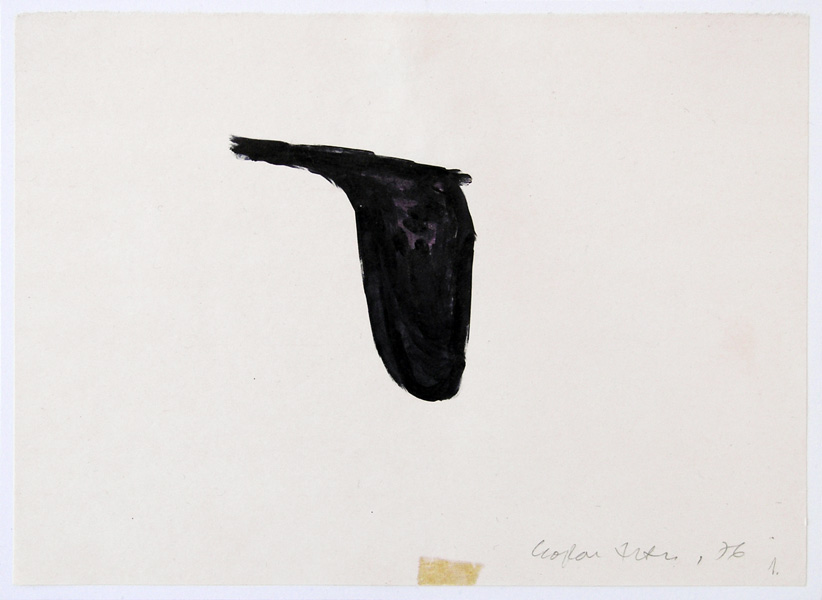 Copying, indian ink on paper, 20 x 15 cm (unframed), 1975
