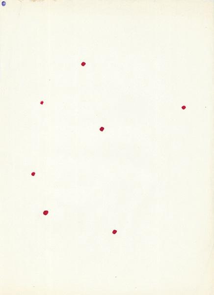 Dots, ball pen and felt pen on paper, 29 x 21 cm, 1984