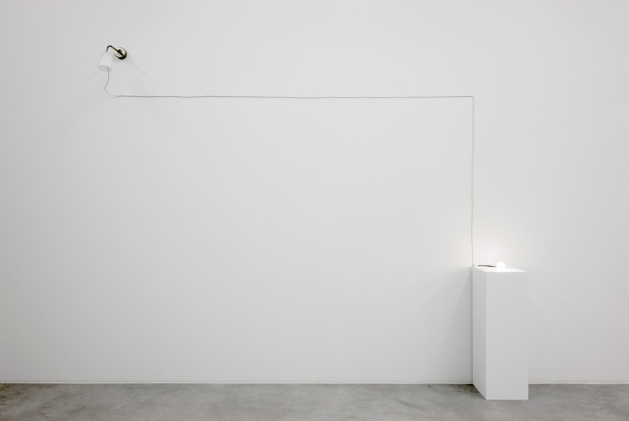 From Pula, light installation: lamp, cable, bulb, pedestal, variable dimensions, 2008