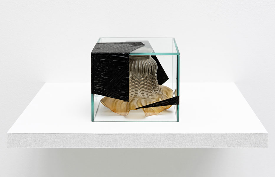 Stylization, lamp-shade, glass, oil paint, 15 x 16 x 12 cm, 2013