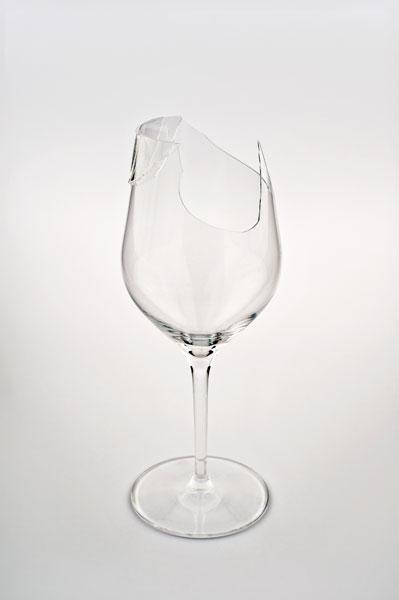 Symmetries (1), glass, glue, 24 x 9 x 9 cm, 2011