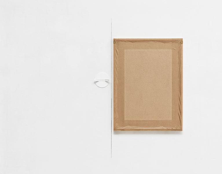 Symmetry/5, plastic bonnet, pencil, framed drawing, 38 x 13 x 2.7 cm, 2013