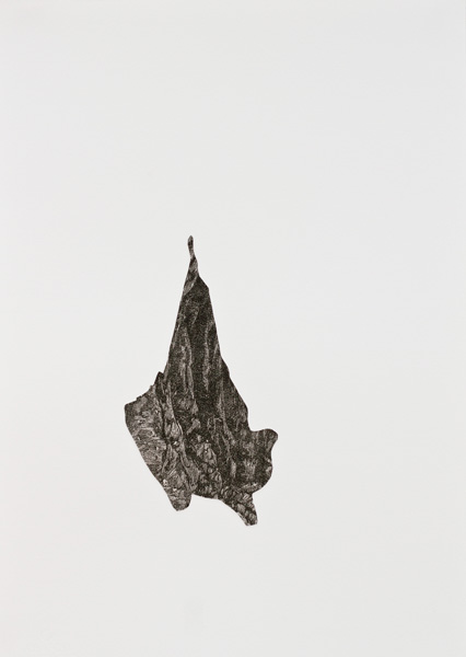 Caves #6, collage on paper, 39 x 56 cm, 2011