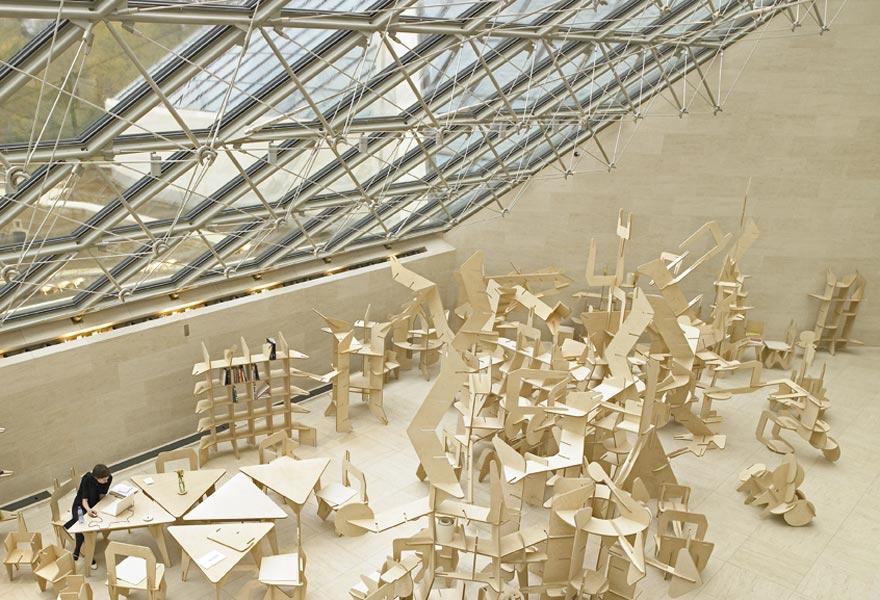 Mudam Studio, 2006; plywood, ca. 200 m2. Installation view, Mudam Luxembourg. Photo: Remy Villaggi