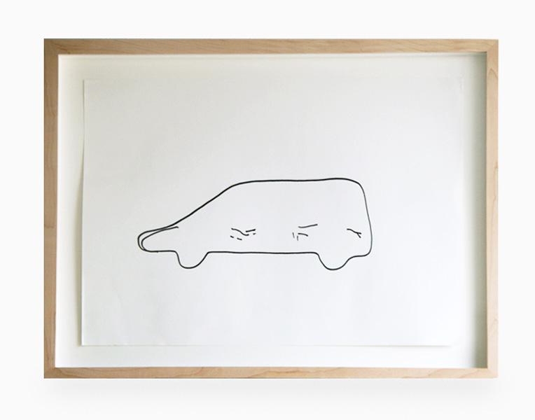 Back Car, felt tip pen on paper, 50 x 37 cm, 2007