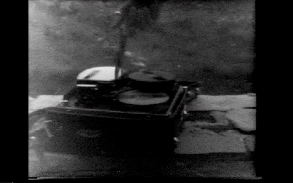 Cut, film still, B&W video, 29'', looped, 1976