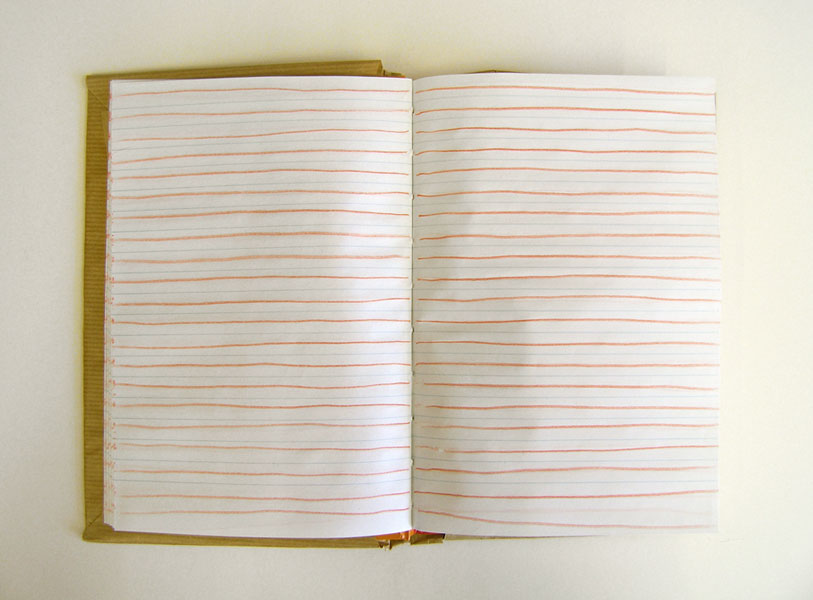 Exercice d'un artiste Notebook, colored pencil, hardcover, 1989