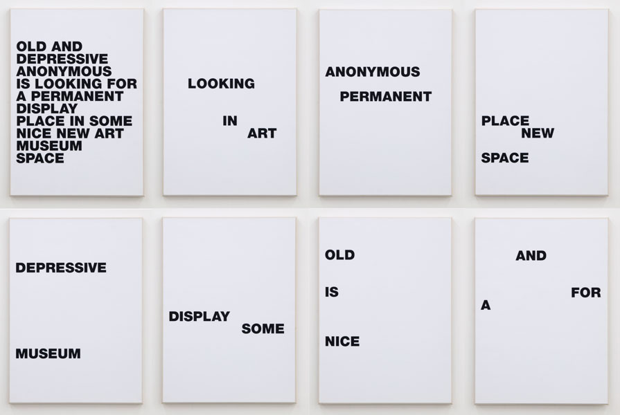 Untitled, series of 8 silk prints mounted on canvas, each 71 x 51.5 cm, 2006-2008