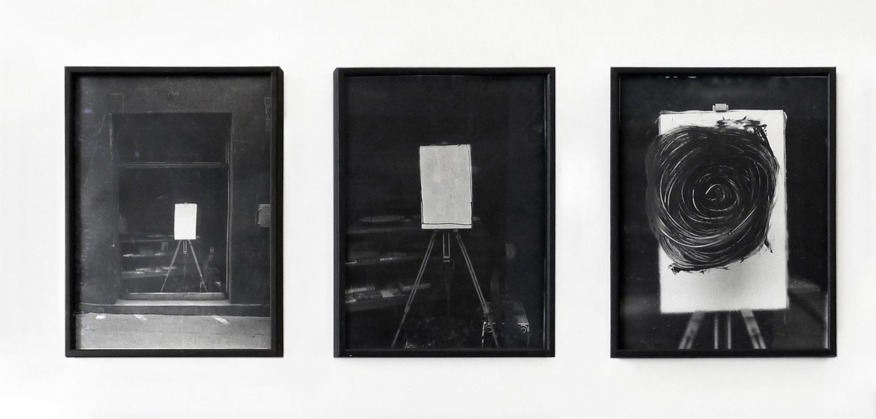 Sunday Paintings, 3 silver prints, 40 x 30 cm each (framed), 1974