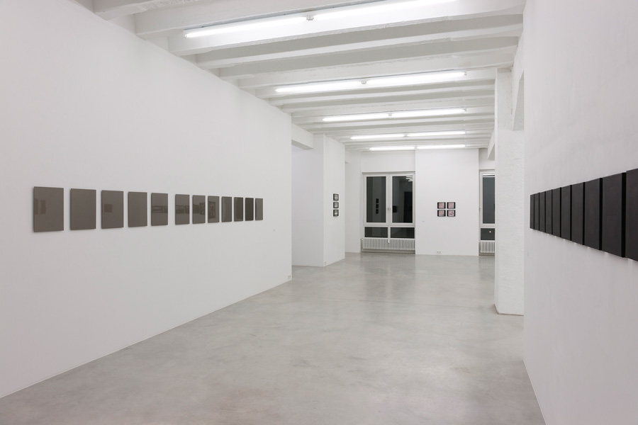 Goran Trbuljak: Monochrome & Monogram, exhibition view, Galerija Gregor Podnar, Berlin, 2011. Photo: Marcus Schneider