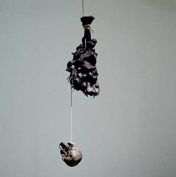 Giant, bronze, rope, approx 120 x 40 cm (+ length of the rope), 2006