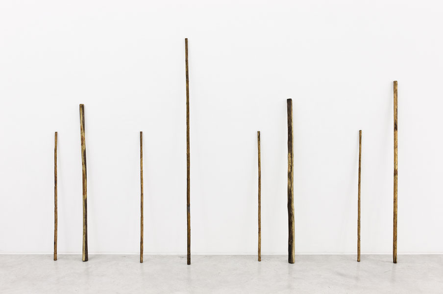 Scripta Bronze, 8 pieces, variable dimensions (height between ca. 100 and 170 cm), 2008