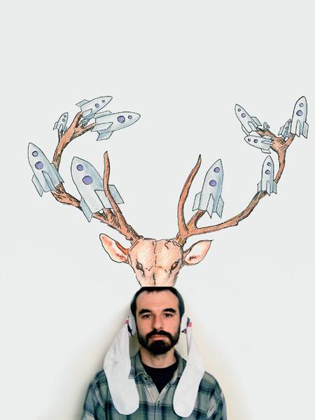 Untitled (Elk-Socks Auto-Portrait), inkjet print, 55 x 72,5 cm, 2000