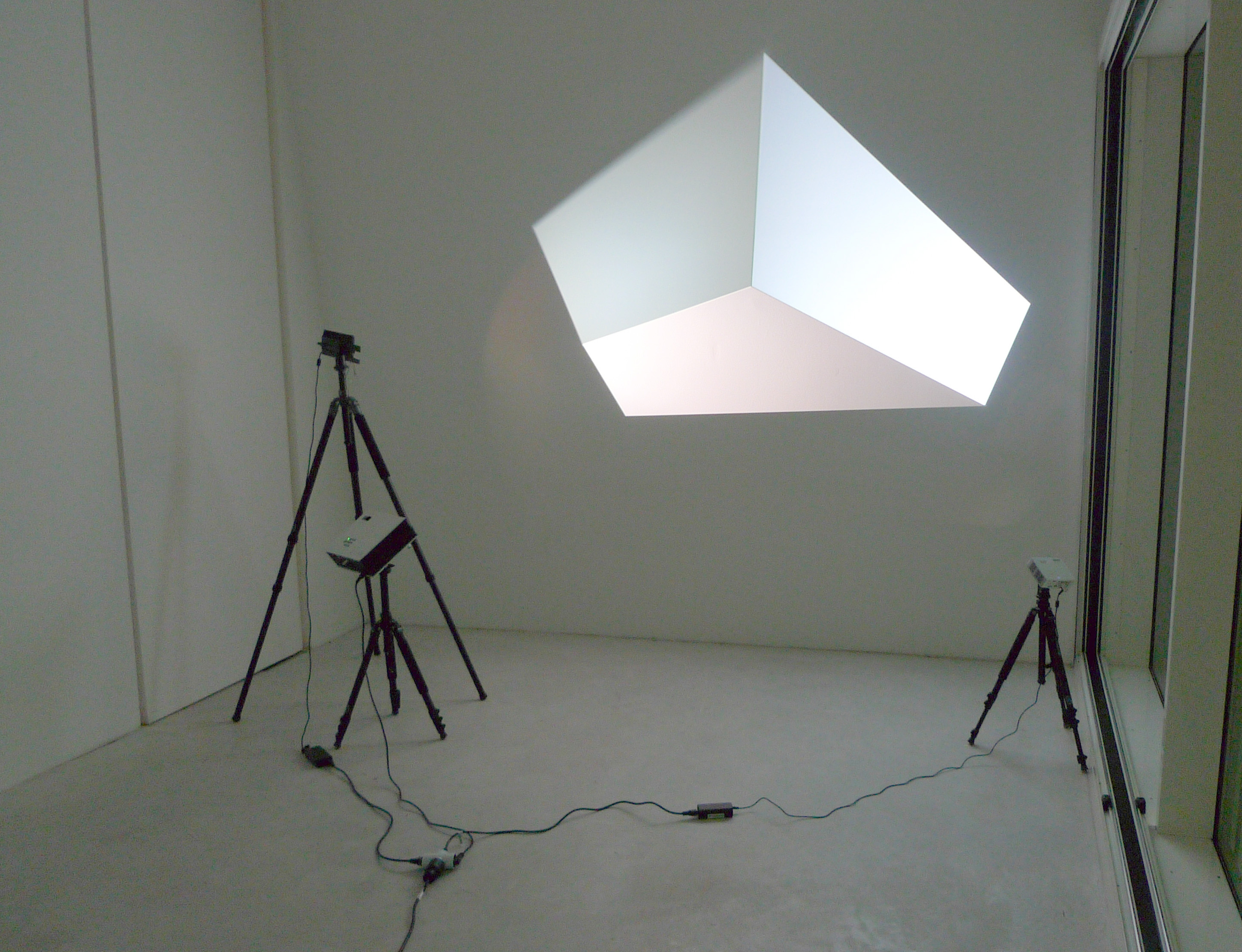 Vadim Fishkin, Solidarity 3D, 3 projectors, 3 tripods, 2015
