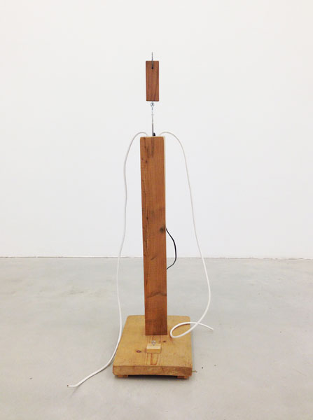 Untitled, wood, hook and eye, wire, nail, 114 x 43 x 40 cm, 2002