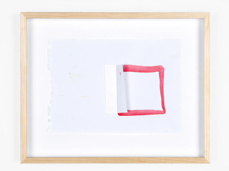 Open, tempera color on paper, 41,5 x 33 x 4 cm, 2011