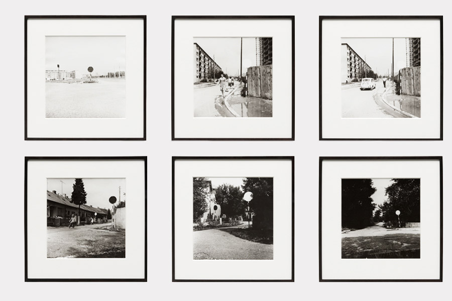 Anonymous Street Action, gelatin silver prints, series of 6, each 39 x 39 cm (framed), 1970