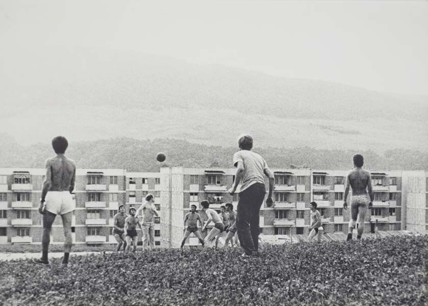 Afternoon in Piatra neamt, vintage silver print, 17 x 24 cm, 1976