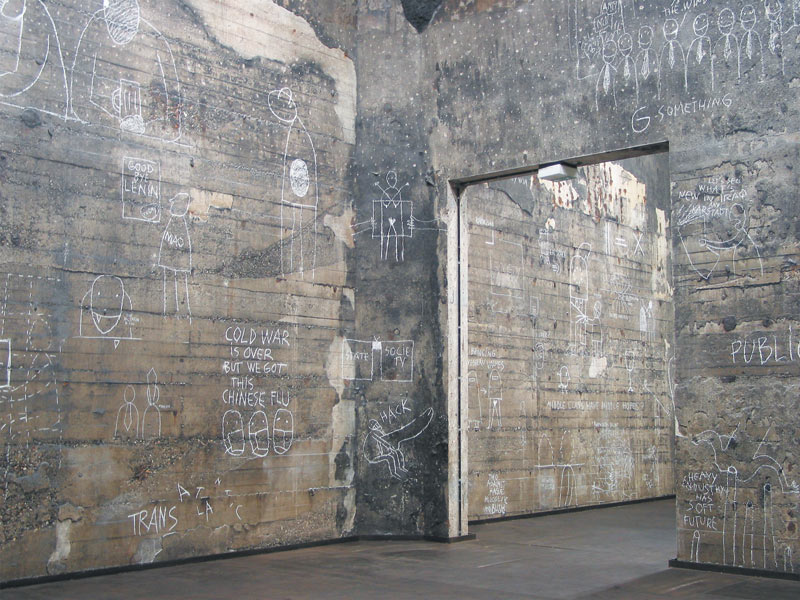 White Chalk Dark Issues, in the frame of Open City Models for Use, Kokerei Zollverein Zeitgenossische Kunst und Kritik, Essen, 2003