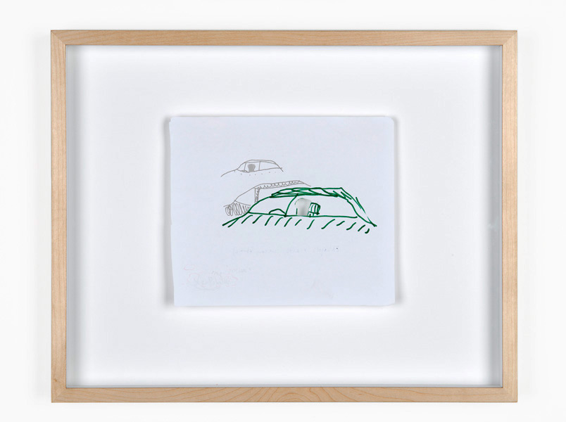 Waiters, marker, pencil on paper, 41,5 x 33 x 4 cm, 2011