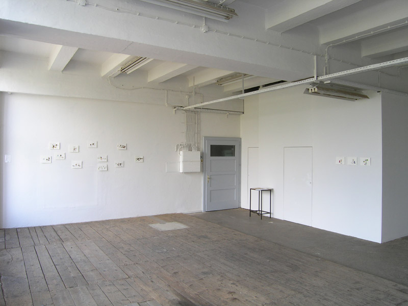 Christine Rebet: Waitress Announcement, exhibition view, Galerija Gregor Podnar, Kranj, 2004