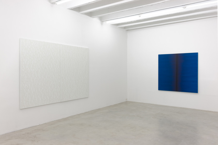 Irma Blank: Blank Archive, exhibition view, Galerija Gregor Podnar, Berlin, 2014. Photo: Marcus Schneider