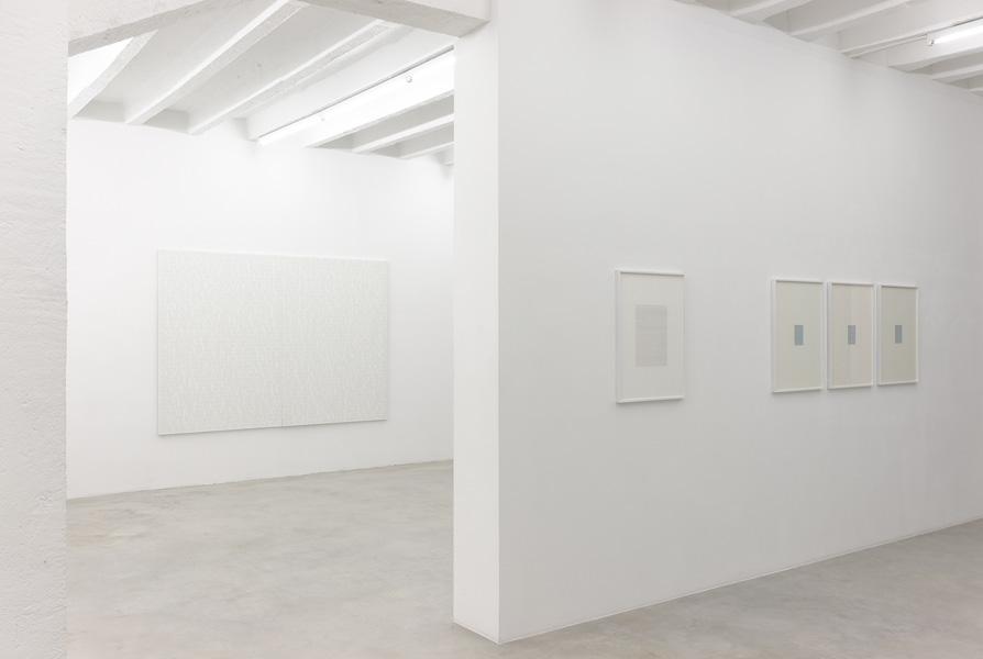 Irma Blank: Blank Archive, exhibition view, Galerija Gregor Podnar, Berlin, 2014. Photo: Marcus Schneider