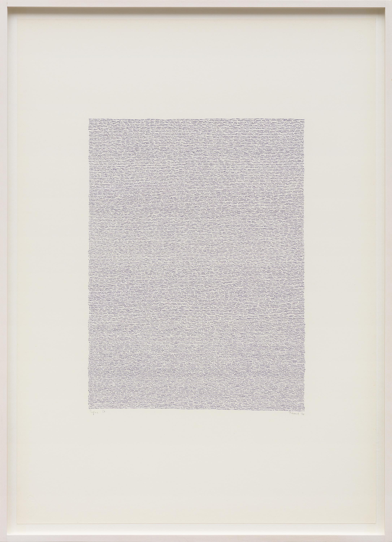 Eigenschriften, Pagina 51, pastel on paper, 70 x 50 cm, 1970