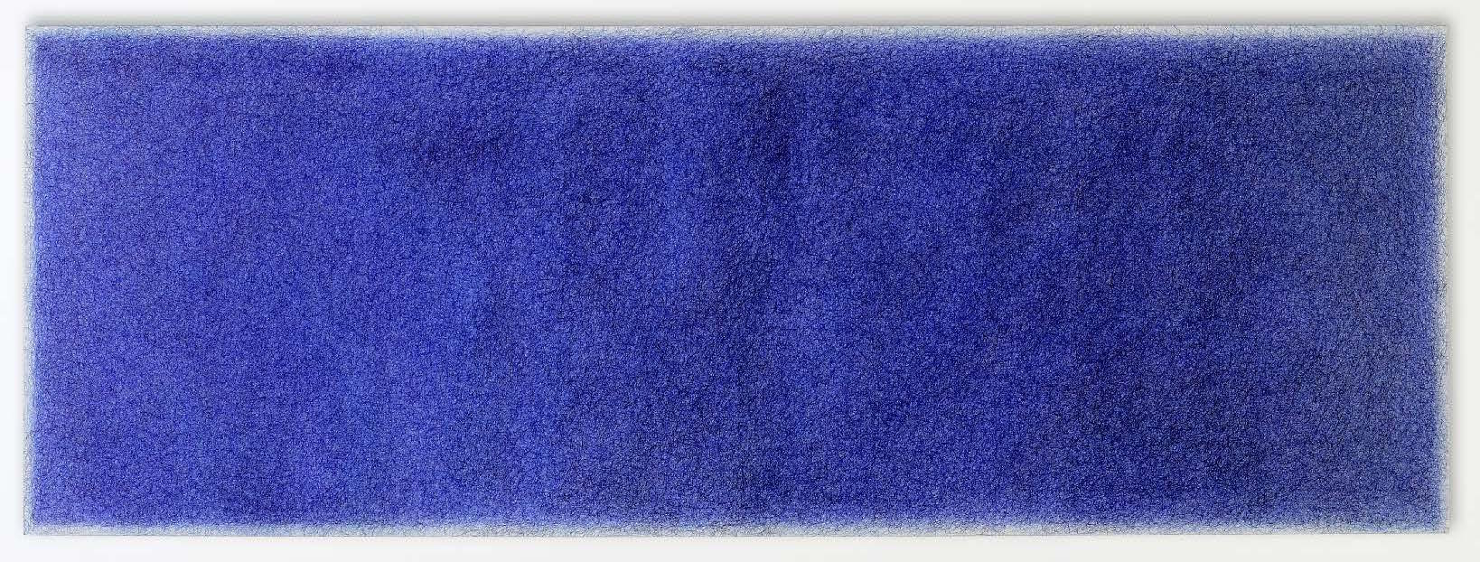 Avant-testo, 22-6-99, ballpoint pen on canvas on wooden stretcher, 62 x 172 cm, 1999