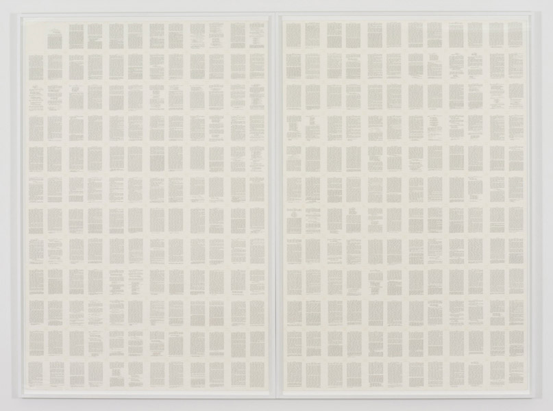 Trascrizioni, Self-Story, Indian ink on parchment like paper, 288 pages, 19 x 12.5 cm each (228 x 300 cm overall), 1977