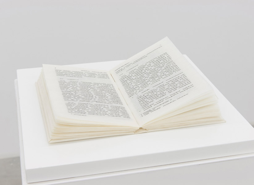 Trascrizioni, For all, Indian ink on parchment like paper, 100 pages, 18 x 10 cm each, bound in form of book, with case, 1976